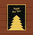 happy new year with golden greeting card vector image