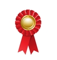 Red award rosette vector image