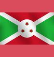 flag of burundi - vector image