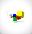 Flying cubes vector image