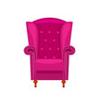 purple armchair isolated icon vector image
