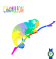 Abstract Colorful Chameleon Silhouette vector image