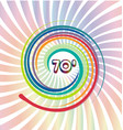70s background with abstract colorful swirly vector image vector image