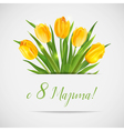 8 March - Womens Day Greeting Card vector image