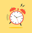 alarm clock ringing wake up time icon vector image