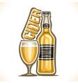 alcohol drink hard cider vector image vector image