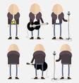 Bald artist vector image vector image