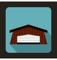 Barn icon flat style vector image vector image