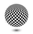 black and white ball vector image vector image