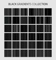 black color gradients collection dark patterns vector image vector image