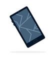 broken phone screen flat isolated vector image vector image