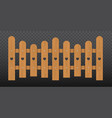 brown wooden fence isolated vector image vector image