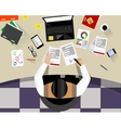 Business Man Sitting Desk Office vector image vector image