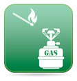 camping stove icon vector image