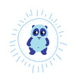 charming cartoon blue bear vector image
