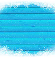 christmas snowfall blue wood vector image vector image