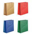 coloured shopping bag vector image vector image