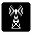 communications tower icon vector image vector image