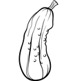 cucumber vegetable cartoon for coloring book vector image vector image