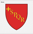 emblem of rome vector image vector image