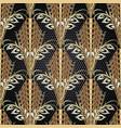 floral vintage gold 3d greek seamless pattern vector image