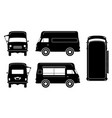 food truck black icons vector image vector image