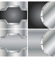 Four metal backgrounds vector image