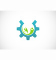gear people work logo vector image