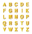 golden abc cut out of paper vector image vector image
