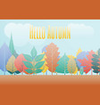 gradation landscape fantasy background fall trees vector image vector image