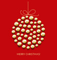 greeting christmas card with decor ball and vector image