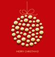 greeting christmas card with decor ball vector image vector image