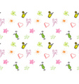 Hand drawn Birthday party background Seamless vector image vector image
