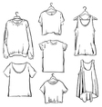Hand drawn Woman clothing set Fashion collection vector image