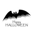 happy halloween concept black bat with text vector image vector image