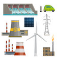 icons of power stations vector image vector image