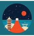 Japan travel background Pagoda Torii Mountain Fuji vector image vector image