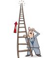 ladder of success cartoon vector image