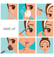 Make Up Step Tan Skin vector image vector image