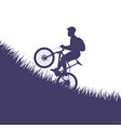 man on bicycle jumping vector image vector image