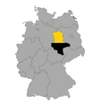 Map of Germany with flag of Saxony-Anhalt vector image vector image