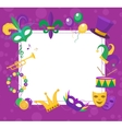 Mardi Gras frame template with space for text