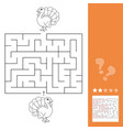 maze game education game for children turkey vector image vector image
