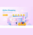 men using mobile shopping people walking in the vector image vector image