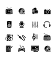 Multimedia computer icon set vector image