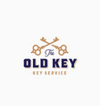 old key abstract sign symbol or logo vector image vector image