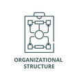 organizational structure line icon linear vector image vector image