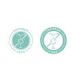 paraben free skincare cosmetic label icon vector image vector image