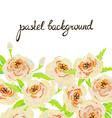Pastel floral background Invitation card Wedding