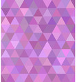 Pink triangle tile mosaic background design vector image vector image